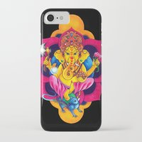 ganesh iPhone & iPod Cases featuring Ganesh by missfortunetattoo