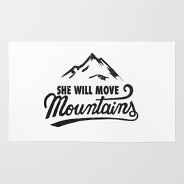 She Will Move Mountains Rug