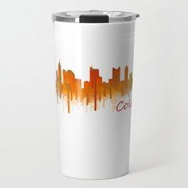 Columbus Ohio, City Skyline, watercolor  Cityscape Hq v2 Travel Mug