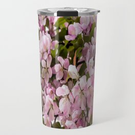 Cerise Flowers Travel Mug