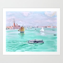 Albert Marquet - Venise, Le Vaporetto - Venice, The Vaporetto Art Print