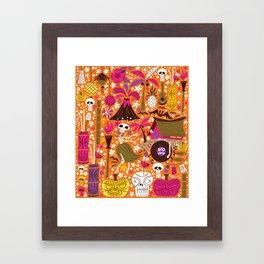 Tiki Freaks do the Hulaween Framed Art Print