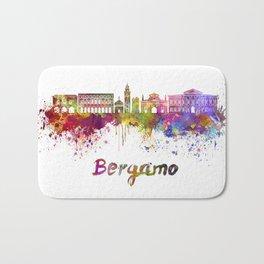 Bergamo skyline in watercolor Bath Mat