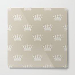 George Grey with Pale Grey Crowns Metal Print