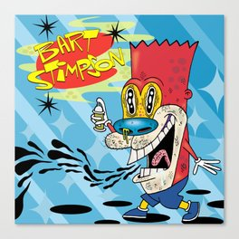 Bart Stimpson Canvas Print