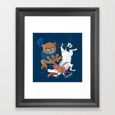 The Goat is Dead! (blue version) Framed Art Print