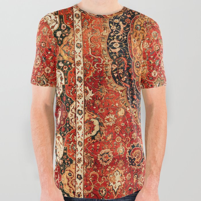 Seley 16th Century Antique Persian Carpet Print All Over Graphic Tee