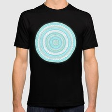 Dreamy Carousel MEDIUM Black Mens Fitted Tee