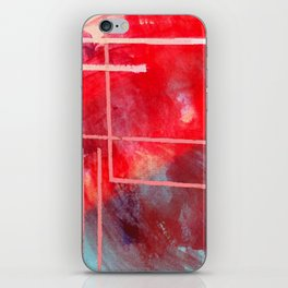 Jubilee: a vibrant abstract piece in reds and pinks iPhone Skin