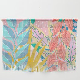 Modern Jungle Plants - Bright Pastels Wall Hanging