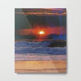 Deadly Waves Metal Print
