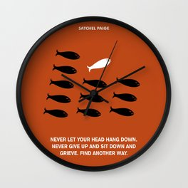 Lab No. 4 - Satchel Paige Corporate Startup Quotes Poster Wall Clock