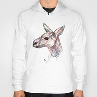 kangaroo Hoodies featuring Kangaroo by Ursula Rodgers