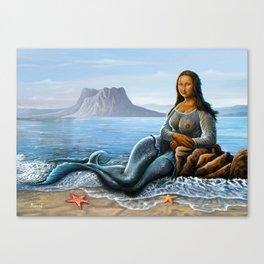 Monalisa Mermaid Canvas Print