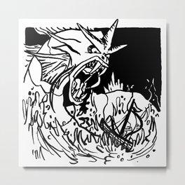 Furious Metal Print