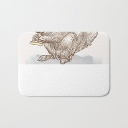 Pizza for All (Including Squirrels) Bath Mat