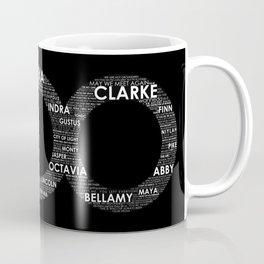 The 100 - Typography Art [white text] Coffee Mug