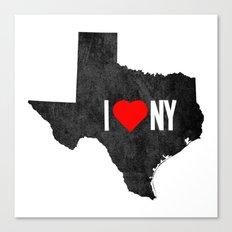 I (Heart) TX Canvas Print