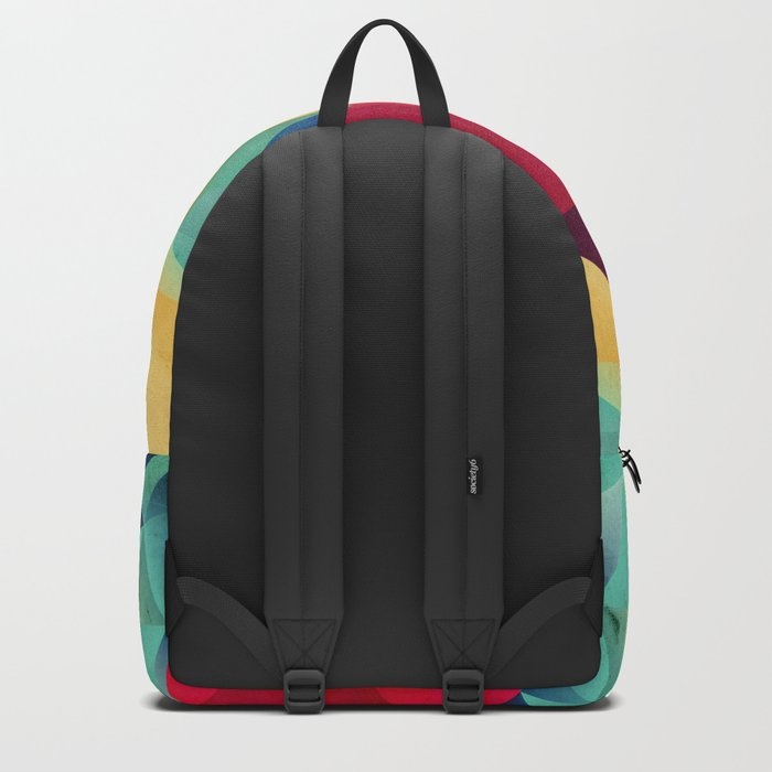 geometric color mountains Backpack