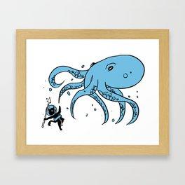 Deep Sea Battle Framed Art Print