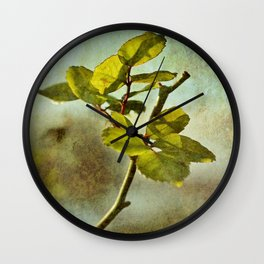 Textured Rose Leaf Wall Clock