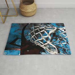 Unique basketball artwork vs 4- Sports art Rug