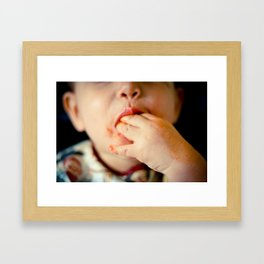 Time to Eat! Framed Art Print
