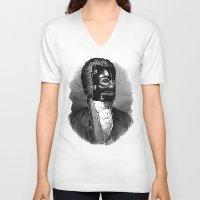 bdsm V-neck T-shirts featuring BDSM XIV by DIVIDUS