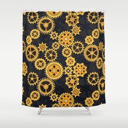 Gearing Up Shower Curtain