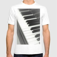 Piano White MEDIUM Mens Fitted Tee