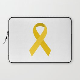 Yellow Awareness Support Ribbon Laptop Sleeve