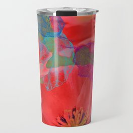 Vintage Poppies 12 Travel Mug