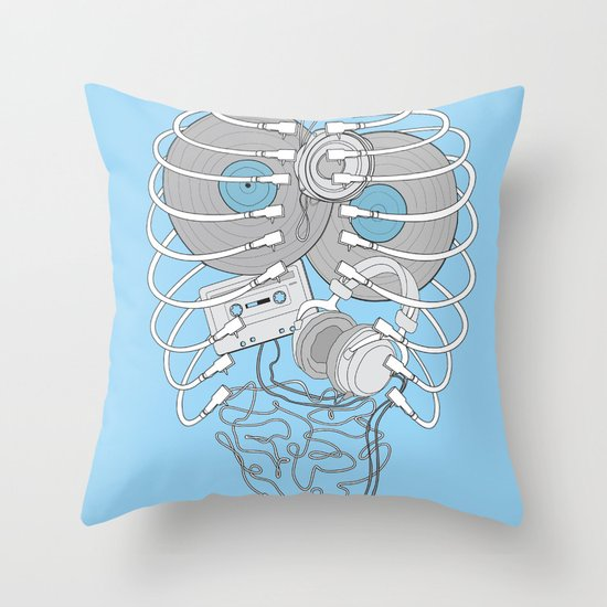 Internal Rhythm Throw Pillow