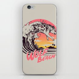 Wolf Beach iPhone Skin