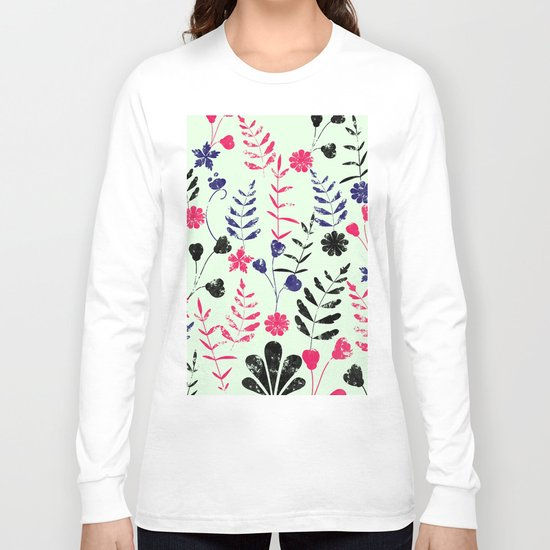 Floral Pattern Long Sleeve T-shirt