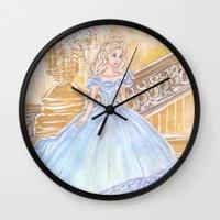 cinderella Wall Clocks featuring Cinderella by carotoki