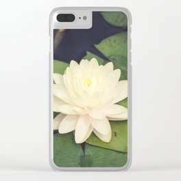 Peaceful Water Lily Clear iPhone Case