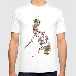 7,107 Islands | A Map of the Philippines T-shirt
