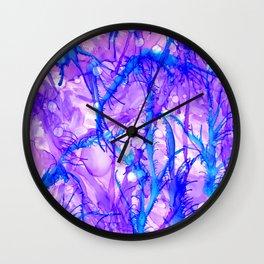 Electric Ferns Wall Clock