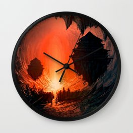 Feudal Cavern Wall Clock