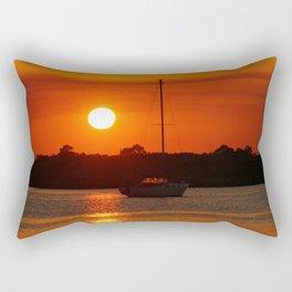 Sunset Sailboat Rectangular Pillow