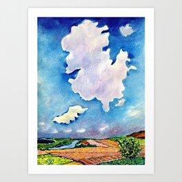 The Huge Cloud Art Print