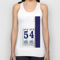number Tank Tops featuring door number by gzm_guvenc