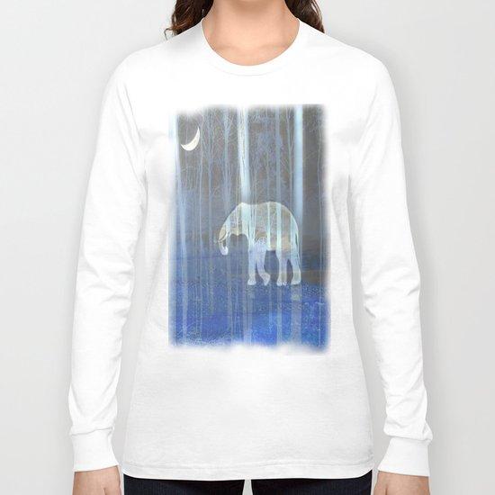 Moonlight with elephant Long Sleeve T-shirt