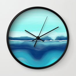 Turquoise landscape Wall Clock