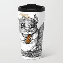 a little chinchilla Metal Travel Mug