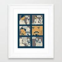 django Framed Art Prints featuring Django by Derek Eads