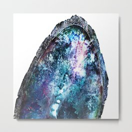 Blue Mystic Geode Metal Print