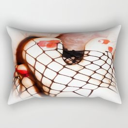 FOOT JOB FEET FUCKING BDSM KINKY Rectangular Pillow