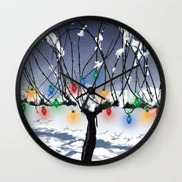 Holidays in the Vineyard Wall Clock